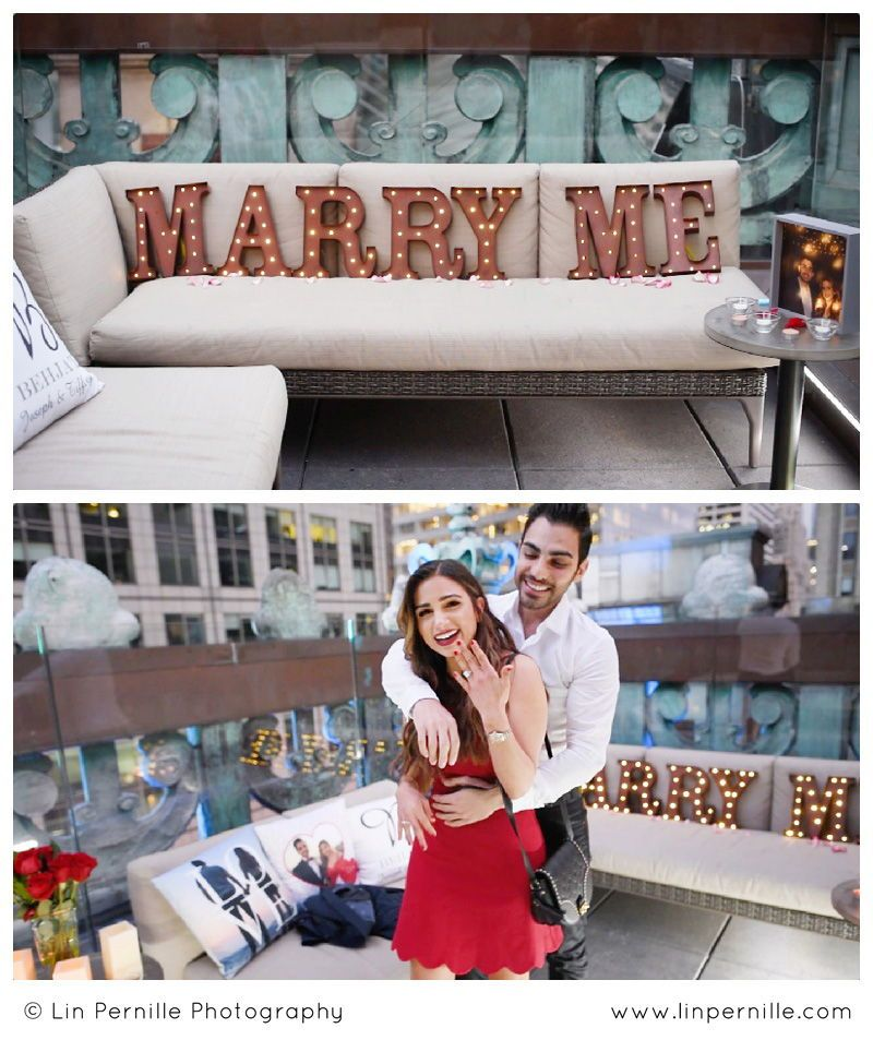NYC Times Square Rooftop Surprise Proposal • Knickerbocker