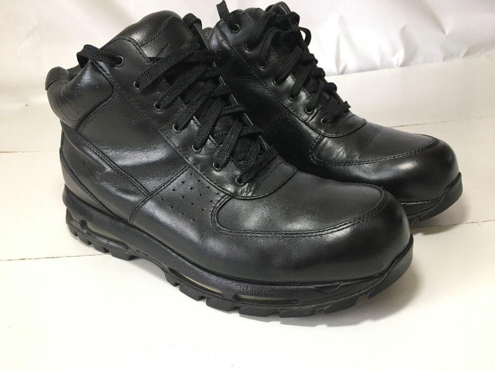 ... Nike Air Max Goadome ACG, Black, Mens Leather Boots, 865031-009 Size ...