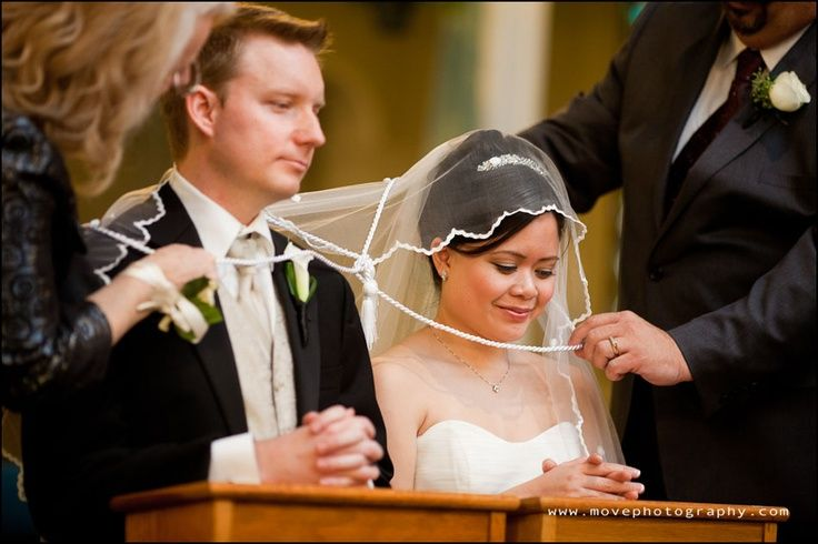 Catholic Wedding Traditions.Filipino Catholic Wedding Ceremony Pinning Of The Veil And