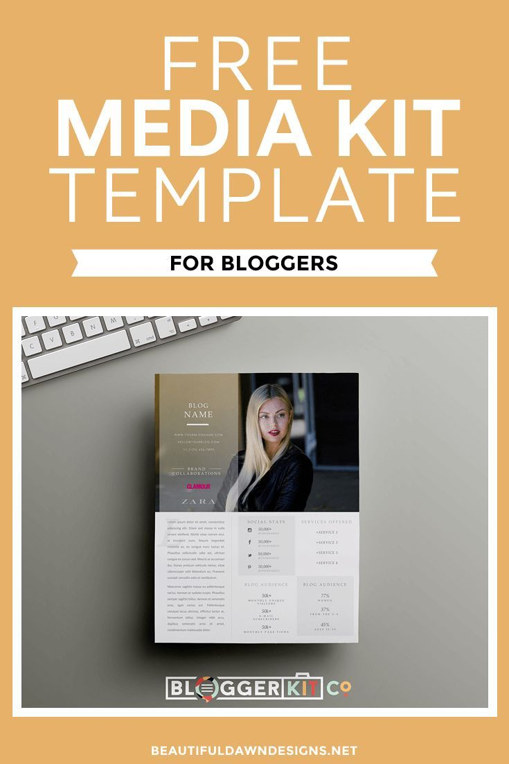 Free Media Kit Template For Bloggers Beautiful Dawn Designs