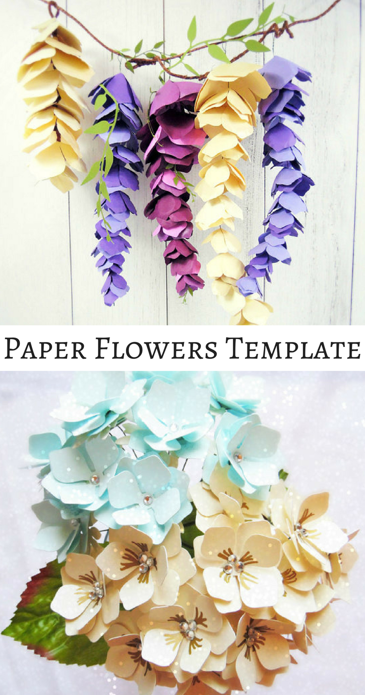 Make your own beautiful paper flowers with easy to follow templates make your own beautiful paper flowers with easy to follow templates hanging wisteria paper flowers mightylinksfo