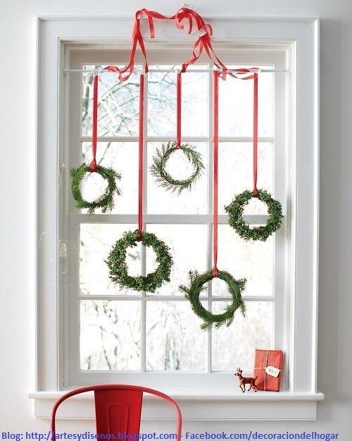 como decorar ventanas para navidad by artesydisenos