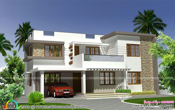 2250 Sq Ft Modern Flat Roof 4bhk Home Lukhele In 2019