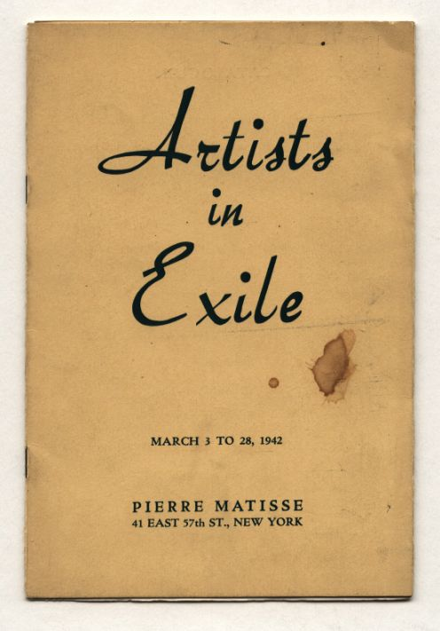 1942 Pierre Matisse Gallery ARTISTS IN EXILE catalog SI...