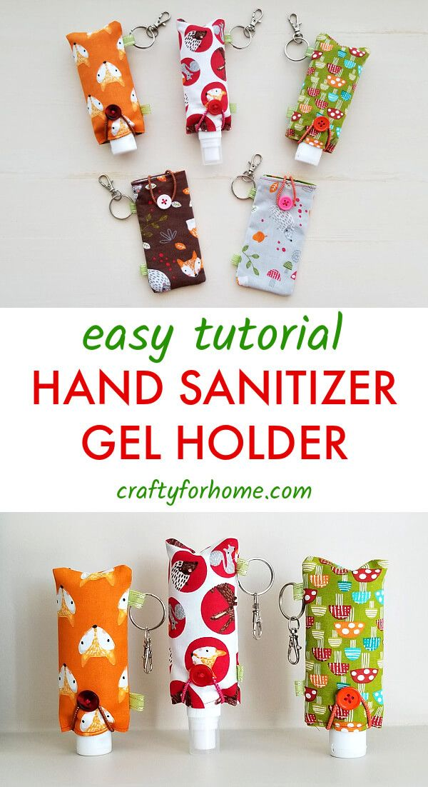 Easy Fabric Hand Sanitizer Holder -   23 fabric crafts for kids to make ideas