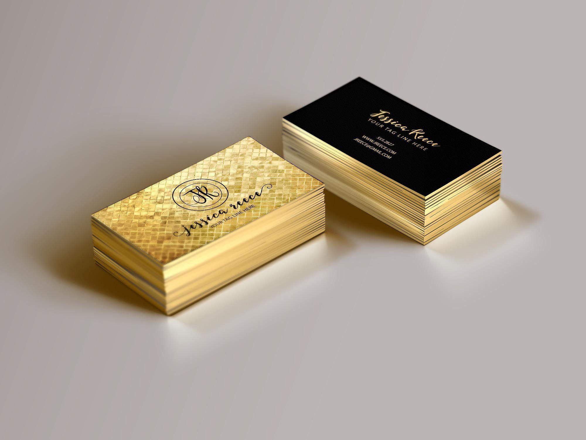 Gold foil business card template templatescheckproper