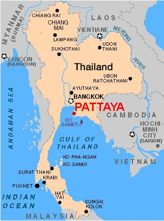pattaya thailand | Map of Pattaya, Thailand | places I've been
