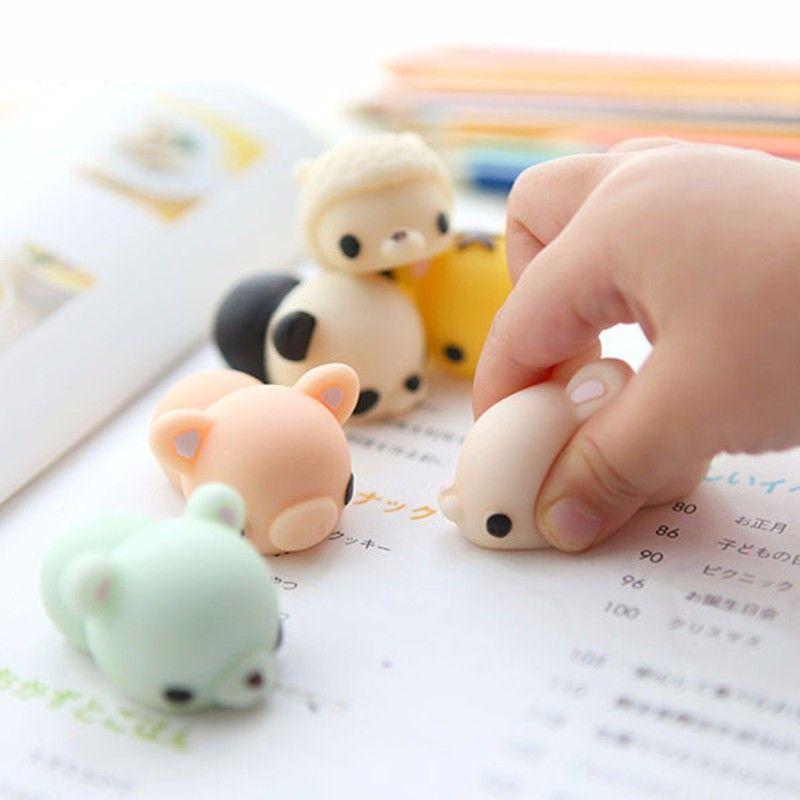 Mochi Polar Bear Squishy Squeeze Cute Healing Toy Kawaii Collection Stress Relie