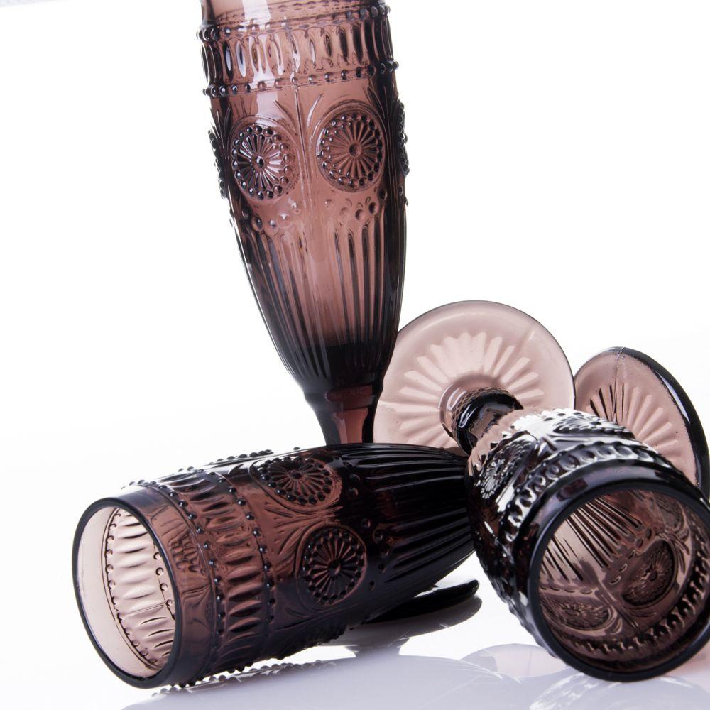 Copas de cristal decorado. Copas de Champagne. unimasa.es