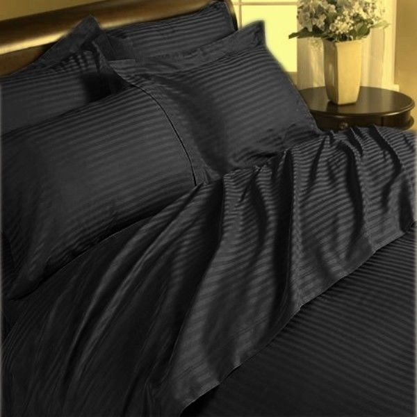 Fall Asleep In The Luxury Of 1500 Thread Count Pure Egyptian Cotton Bliss Egyptian Cotton Sheets Black Bedding Black Sheets