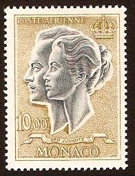 Monaco 1966 10f slate and bistre.