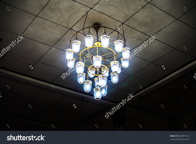 lighting for dark rooms. Interesting For The Old Ceiling Light Lantern In Dark Room Stock Photo 500891512   Shutterstock For Lighting For Dark Rooms