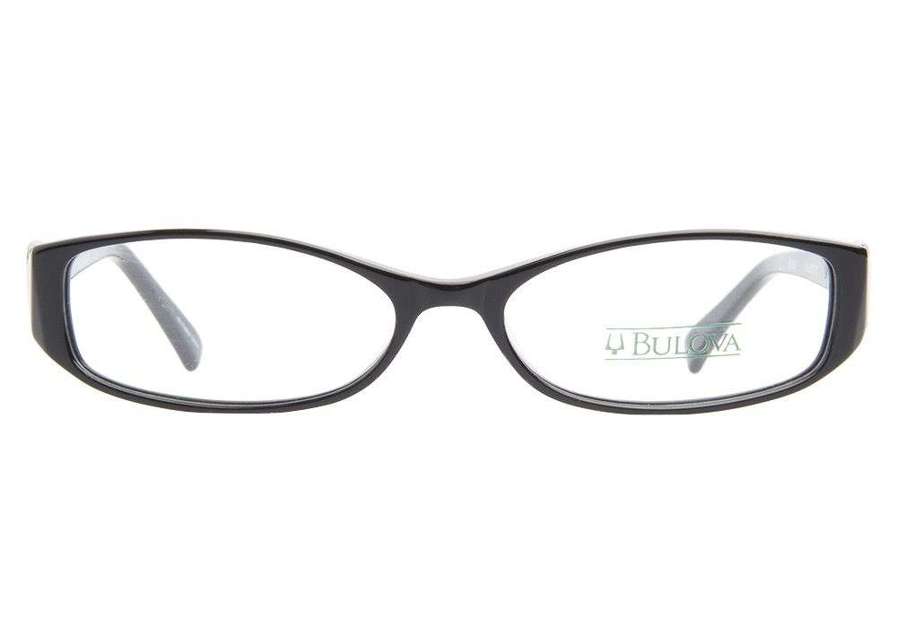 These Bulova Willemstad Black eyeglasses are a classic pair of ...