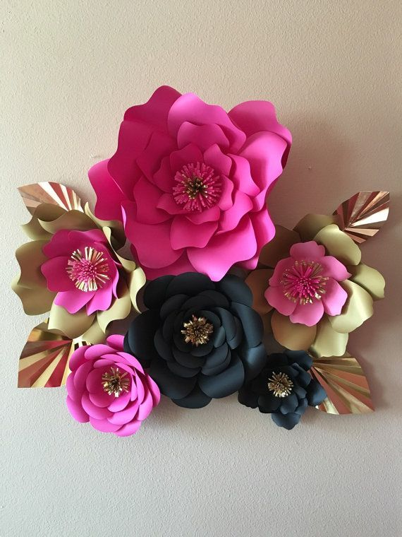6 Kate Spade Inspired Giant Paper Flowers By Spikedwithglitter