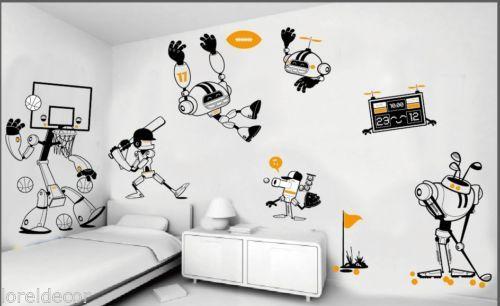 Vinilos decorativos infantiles de Robots Vinilo decorativo pared ...