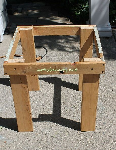 pallet end tables wood patio furniture