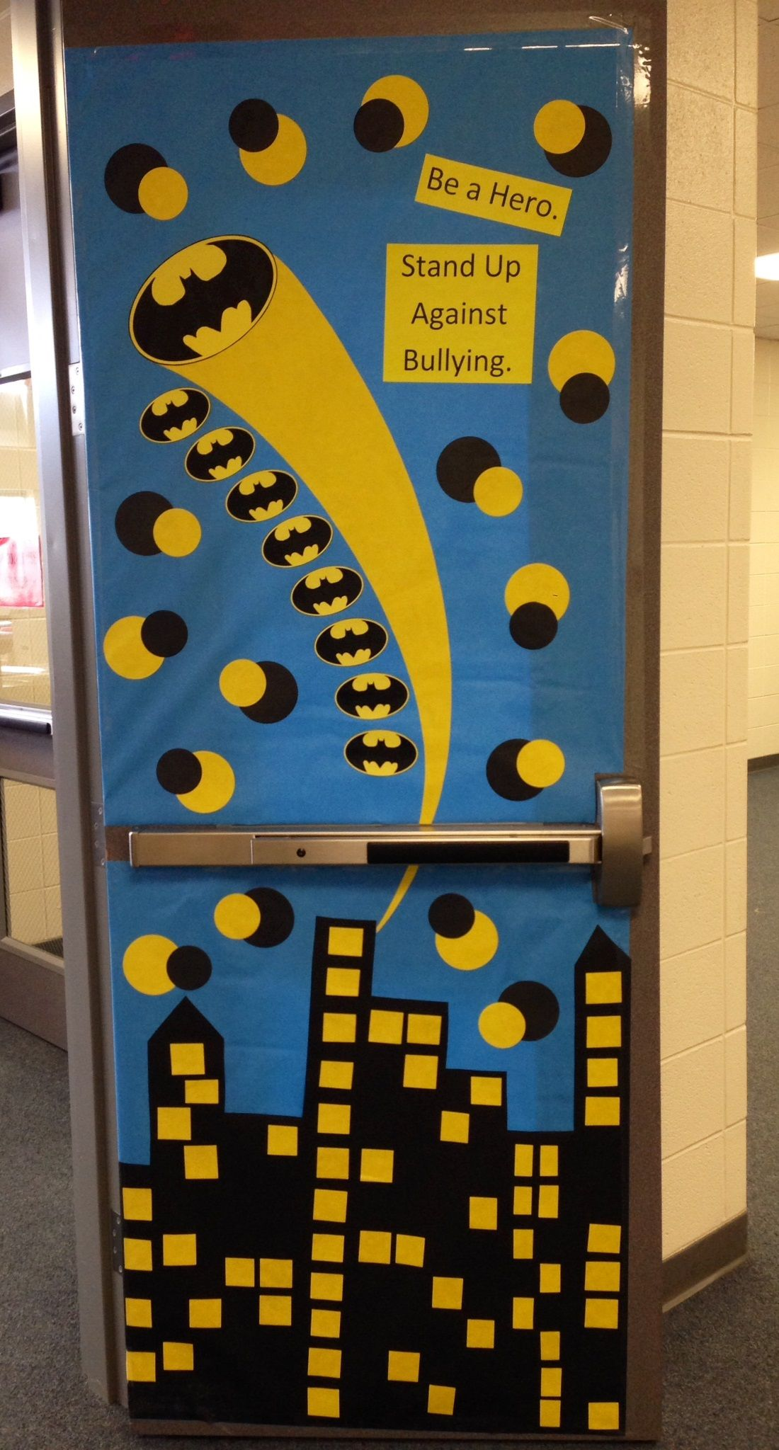 Be A Hero Stand Up Against Bullying Batman Door