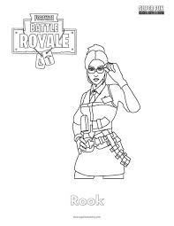 Fin fun coloring pages ~ Image result for girl coloring picture of fortnite ...