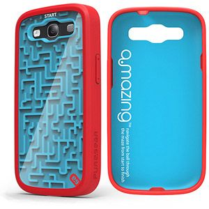 cheap for discount 162ef a74b7 PureGear Amazing Retro Game Case for Samsung Galaxy S III, Blue/Red ...