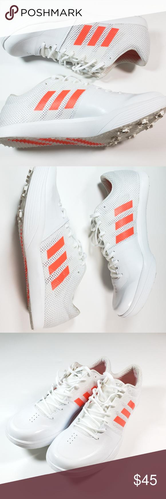 Adidas Adizero Men's Spikes White Orange Long Jump | Track and ...