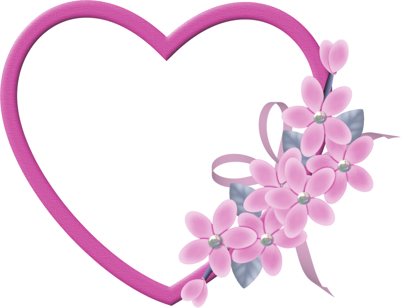 Large Pink Heart Transparent Frame With Pink Flowers Gallery Yopriceville High Quality Images And Transparent Png Pink Heart Heart Frame Clip Art Freebies