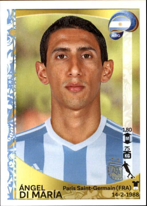 DI MARIA # ARGENTINA REAL MADRID CHAMPIONS LEAGUE TRADING CARDS 2013