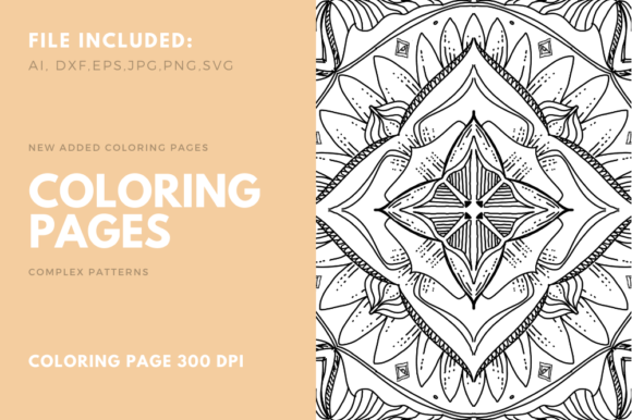 Geometric Coloring Poge For Kdp Graphic By Stanosh Creative Fabrica Designs Coloring Books Coloring Book Pages Coloring Pages