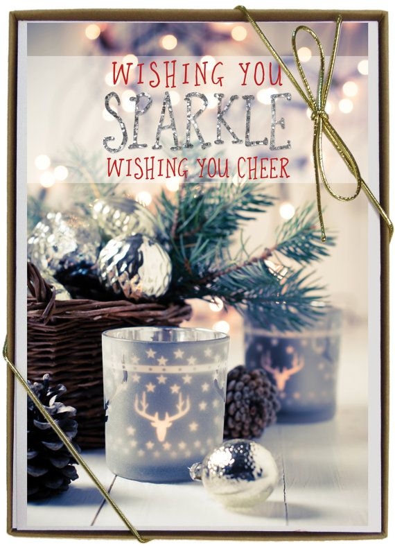 Sparkle Christmas Boxed Cards by FaithViewCreations on Etsy