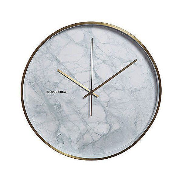 Cloudnola White Structure Marble Wall Clock By Bliss Product Design Marble Clock Wall Clock Wall Clock Modern