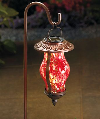 Glass Solar Lantern Stakes @ ltdcommodities.com