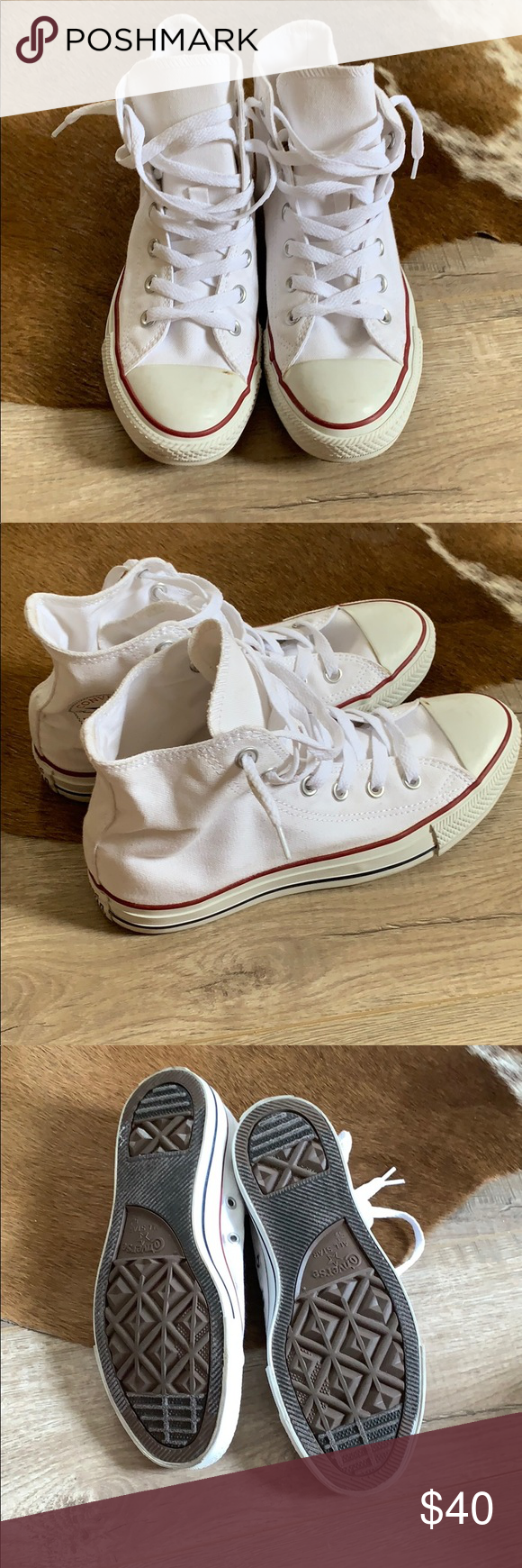 9e06fe90c54 High top converse Worn once for a photo shoot Women s 7.5 Converse Shoes  Sneakers