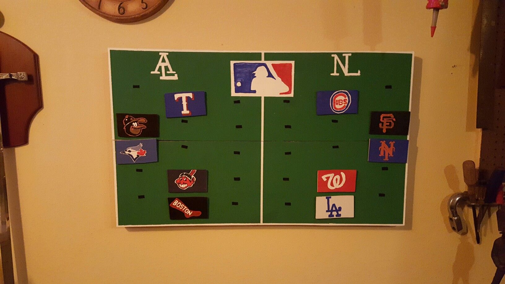 Mancave Mlb Standings Board Mancave Stuff In 2019 Man Cave Mlb