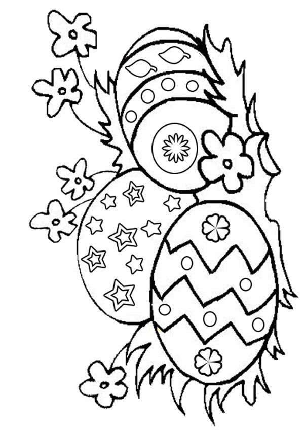 Free Online Easter Eggs Colouring Page | Easter, Egg and Kids ...