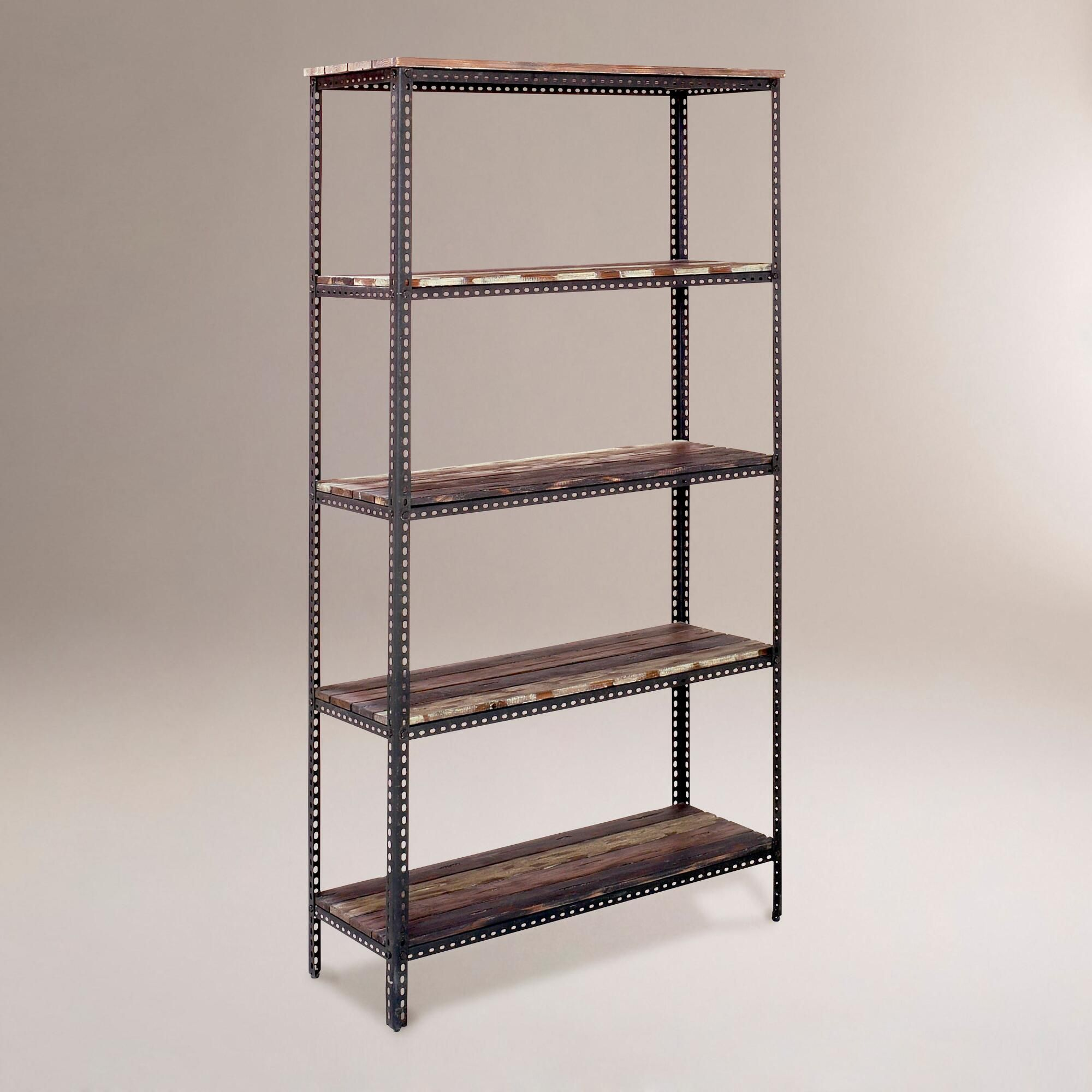 4-Shelf Industrial Metal Shelf | Metal shelves, Industrial metal ...