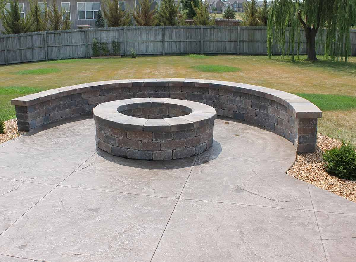 patio fire pit on concrete patio ideas how to build diy concrete