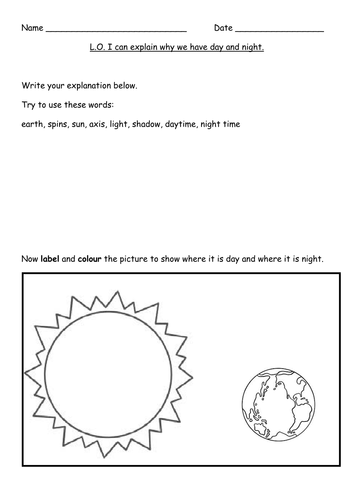 day and night_ science _ HA MA LA pdf | worksheets | Science