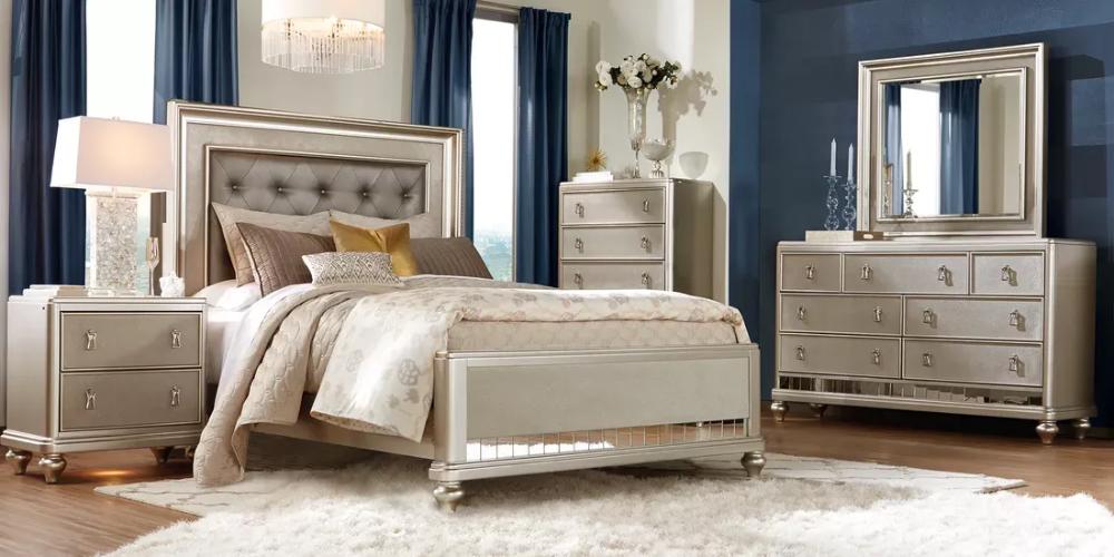 Sofia Vergara Paris Silver 5 Pc Queen Bedroom in 2020