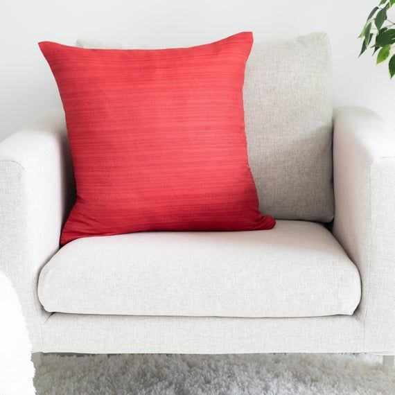 Red Throw Pillow Cover, Minimalist, Contemporary Pillows- Luxurious, Elegant & Decorative