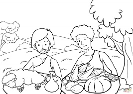 Image Result For Seth Genesis Bible Coloring Cain And Abel Bible Coloring Pages Coloring Pages