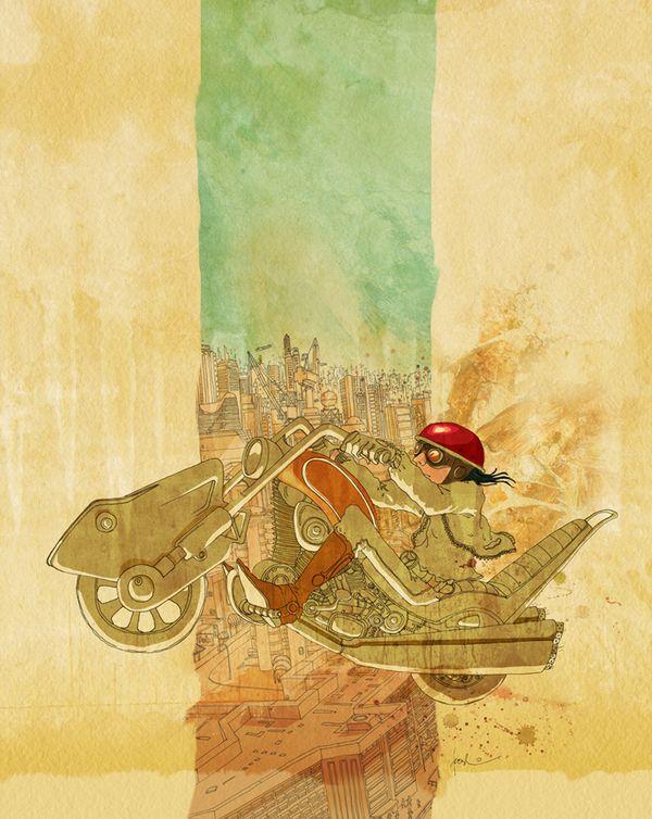 La máquina de los sueños by rodmi cordero, via Behance