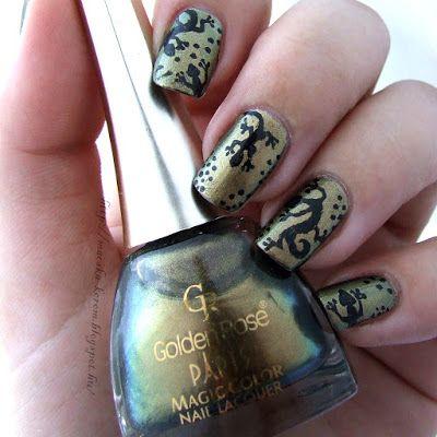 MacskaKöröm #gecko #nails