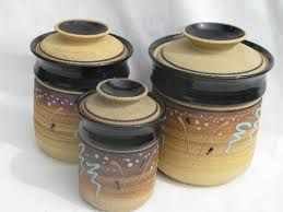 Image Result For Pottery Canisters Kitchen