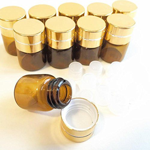 Your Prepared Family Essential Oils 1 4 Dram 1ml Amber Small Aromatherapy Gold Cap Mini Bottle 10 Pack With Images Mini Bottles Family Essential Travel Perfume