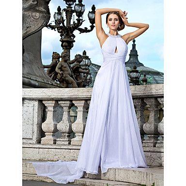 A-line Jewel Floor-length Chiffon Evening Dress – USD $ 199.99