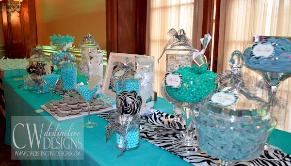 teal black white candy buffet | My Wedding | Pinterest | Sweet 16 ...