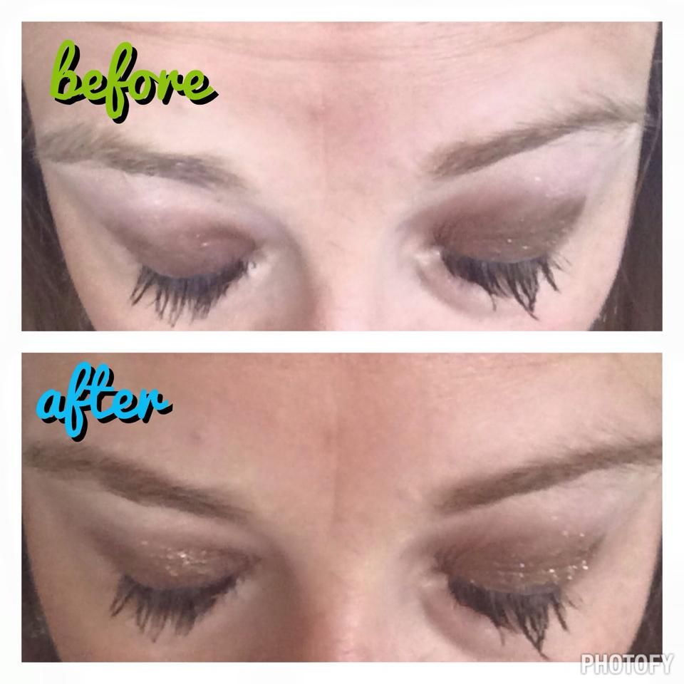 Must Try Monday!!! Do you spot the difference in my brows??!! I LOVE filling mine in to make them look fuller and healthier!! I used mineral eye pigment in irresistible. Do you do this technique??!! Try it this Monday!! You'll thank me later!!!