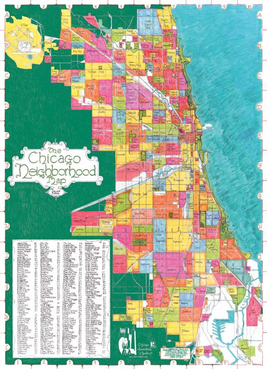 Chicago is a city of neighborhoods. This map is a beautiful ... on
