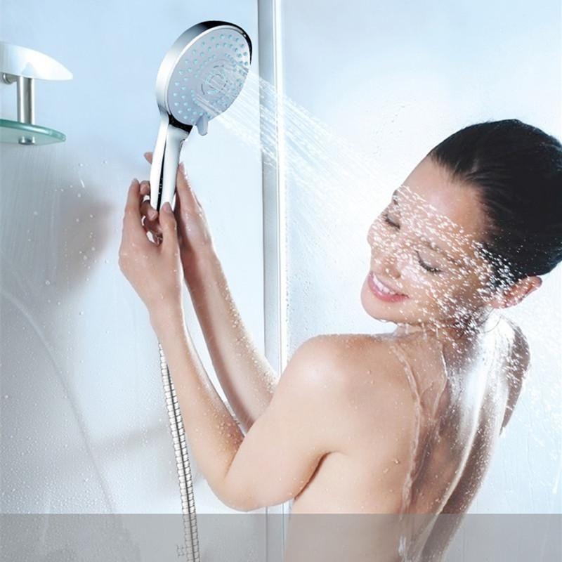 New Pvivlis Big Rain Shower Round Shower Head Abs Plastic Hand