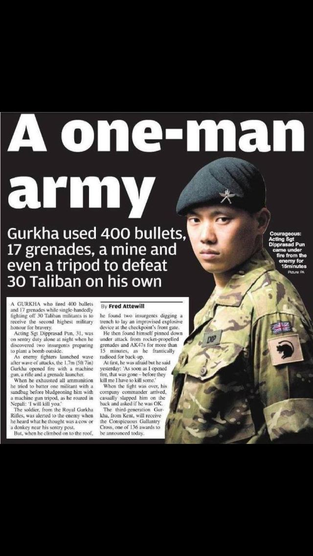 Serious Badass Gurkha Warrior With Images Military Humor