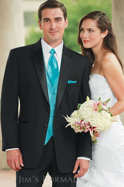 Light blue tho and all white tux | Renewing our vows | Pinterest ...